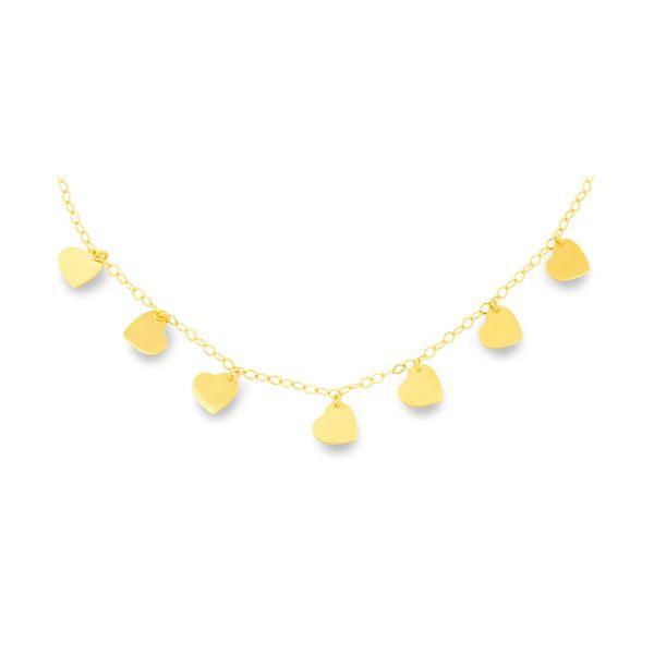Zlatý náhrdelník zo žltého zlata s príveskami
